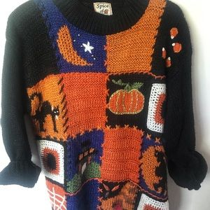 Vintage Chunky Seasonal Sweater Size Small